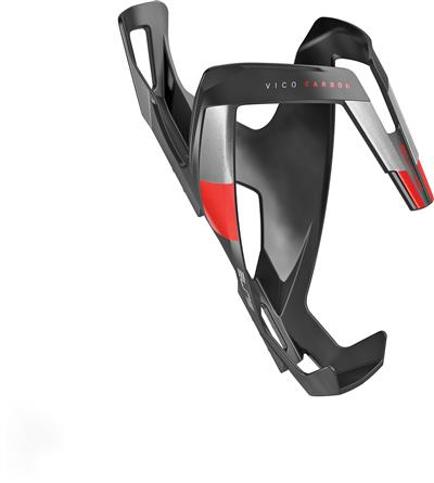 Elite Vico Carbon  Bottle Cage - Matt Black/Red