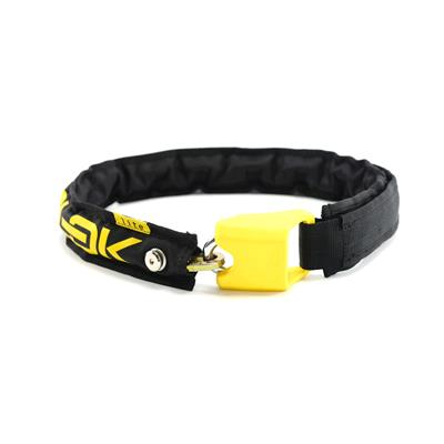 Hiplok Lite Wearable Chain Lock (Bronze Sold Secure) 75cm x 6mm - Black/Yellow