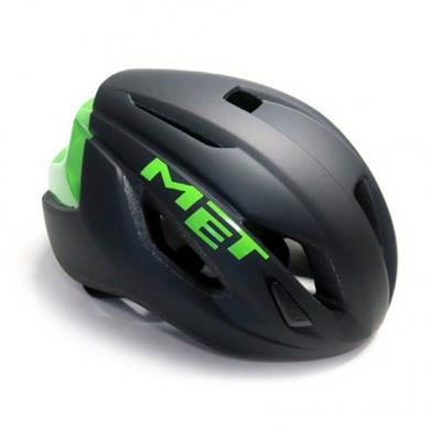 MET Strale 2018 Road Helmet - Medium (52-58cm) - Black/Green