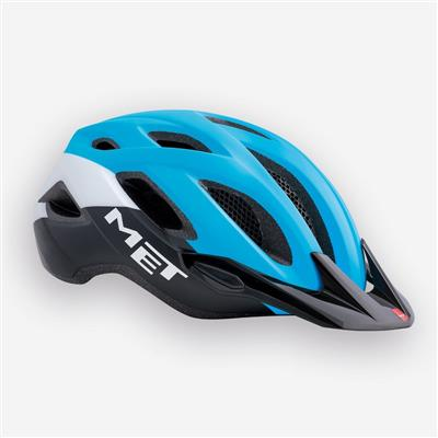 MET Crossover 2018 MTB Helmet - Medium (52-59cm) - Cyan/Black