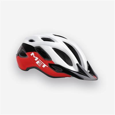 MET Crossover 2018 MTB Helmet - Medium (52-59cm) - White/Black/Red