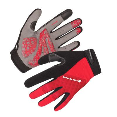 Endura Hummvee Plus Mens Gloves - Small - Red