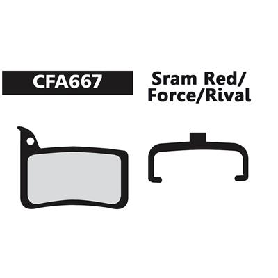 EBC Resin Brake Pads for SRAM Red/Force/Rival - Green