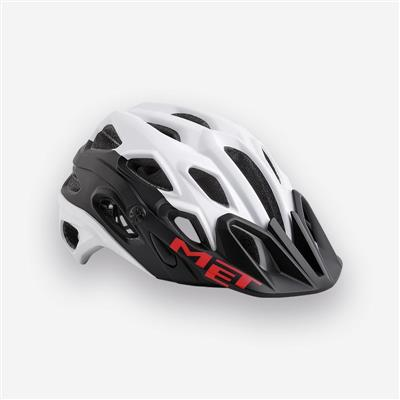 MET Lupo 2018 MTB Helmet - Large (59-62cm) - White/Black Matt