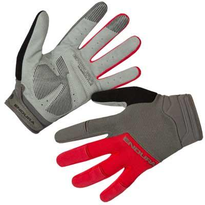 Endura Hummvee Plus II Mens Gloves - Medium - Red