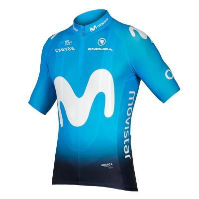 Endura Movistar Team Mens Short Sleeve Jersey - Blue
