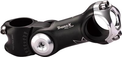 Tranz X Adjustable Alloy Stem 110mm for 25.4mm Bars - Matt Black