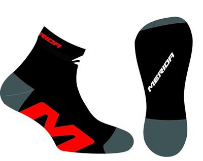 Merida Socks - Medium - Black/Red
