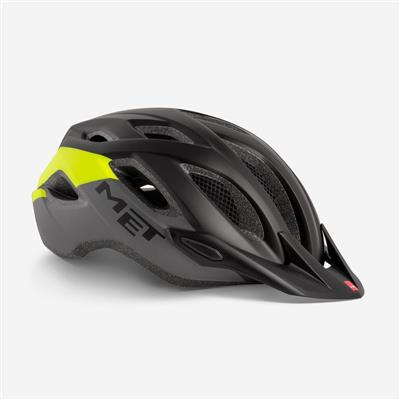 Met Crossover 2018 MTB Helmet - Medium (52-59cm) - Black Safety Yellow Matt