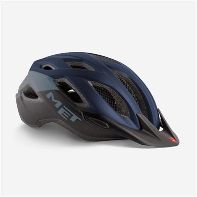 Met Crossover 2018 MTB Helmet - Medium (52-59cm) - Blue Black Matt