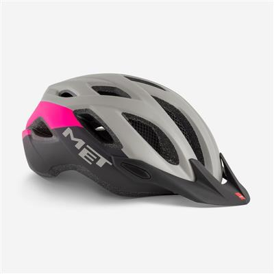 Met Crossover 2018 MTB Helmet - Medium (52-59cm) - Grey Pink Matt