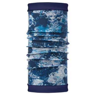 Buff Polar Reversible Neck Warmer - Winter Garden Blue