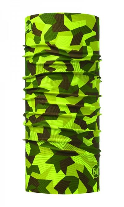 Buff Original Neck Warmer - Block Camo Green