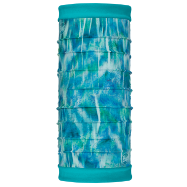 Buff Polar Reversible Neck Warmer - Shimmer Turquoise/Blue Capri