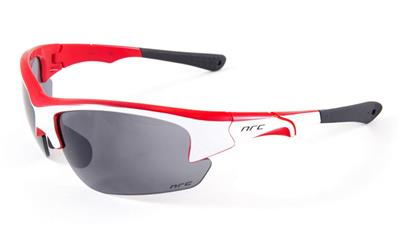 NRC S4 Sunglasses - Gloss White/Shiny Red