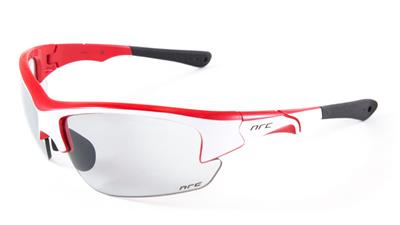 NRC S4 Photochromic Sunglasses - Gloss White/Shiny Red
