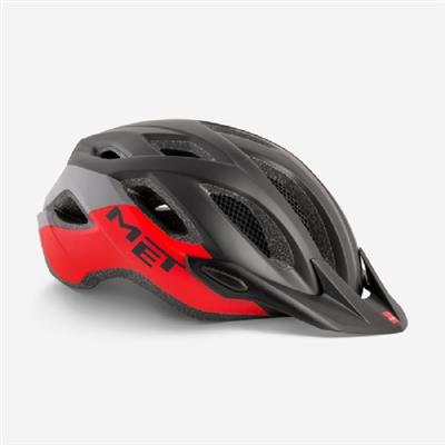Met Crossover XL 2019 MTB Helmet - One Size (60-64cm) - Black Red Matt