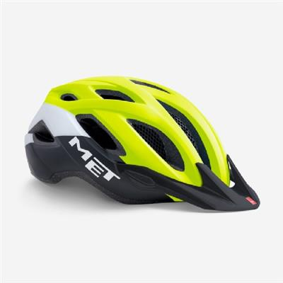 Met Crossover 2019 MTB Helmet - Medium (52-59cm) - Safety Yellow Black Matt