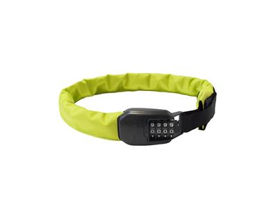 Hiplok Spin Wearable Chain Combination Lock 75cm x 6mm - Neon