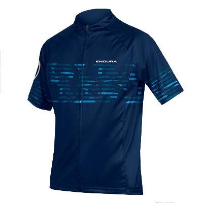 Endura Hummvee Ray Mens Short Sleeve Jersey - Navy