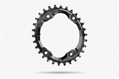 Absolute Black Narrow Wide XTR M9000 Oval Chainring - 34 Tooth - Black