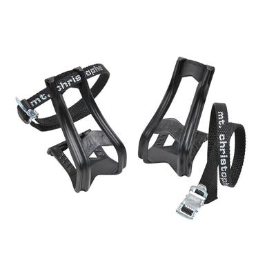 Zefal 43 + 515XL Toe Clips MTB Moulded with 515mm Toe Straps - L/XL