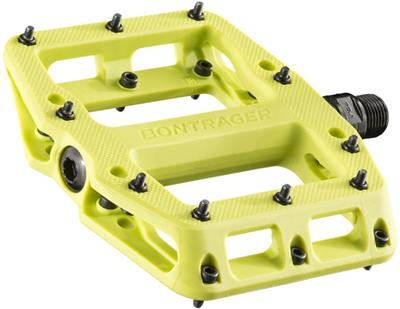 Bontrager Line Elite Sealed Bearing Nylon Flat MTB Pedals - Volt Green