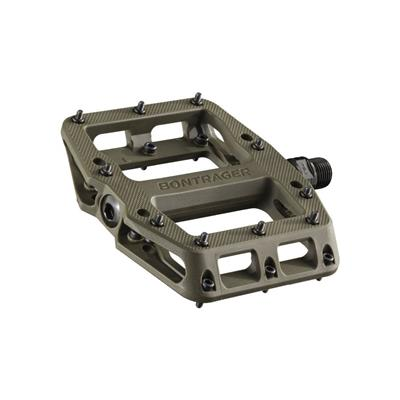 Bontrager Line Elite Sealed Bearing Nylon Flat MTB Pedals - Olive Grey
