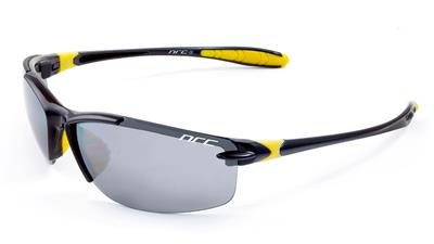NRC S11 4 Lens Sunglasses - Shiny Black/Yellow