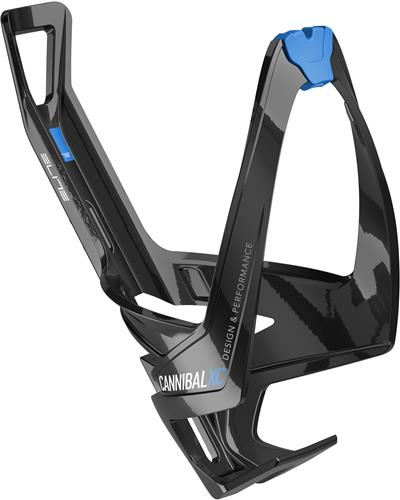 Elite Cannibal XC Bottle Cage - Gloss Black/Blue