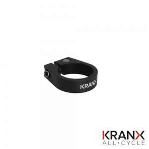 KranX Alloy Bolted Seat Clamp 31.8mm - Black