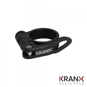 KranX Alloy QR Seat Clamp 34.9mm - Black