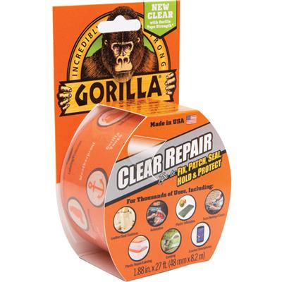 Gorilla Clear Repair Tape 48mm x 8.2m - Clear
